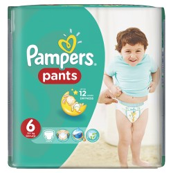 Pampers - Pack 14 Couches Baby Dry Pants taille 6 sur Le roi de la couche