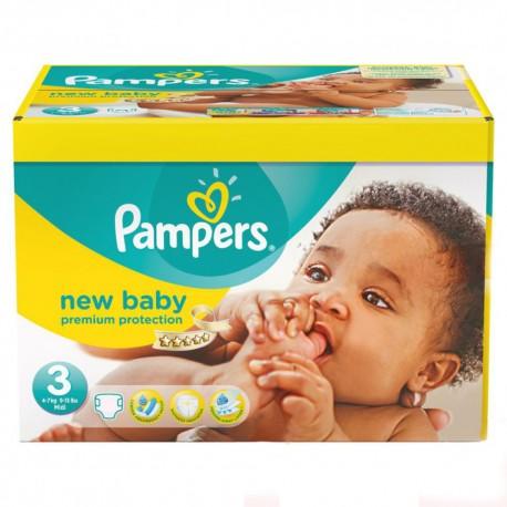 Pampers - Pack 60 Couches New Baby Premium Protection taille 3 sur Le roi de la couche