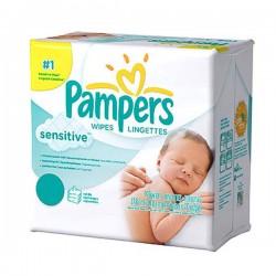 Pampers - Pack économique de 648 Lingettes Bébés Sensitive - 12 Packs de 56 sur Le roi de la couche
