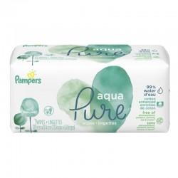 Pampers - Pack 48 Lingettes Bébés Aqua Pure sur Le roi de la couche
