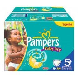 Pampers - 336 Couches Baby Dry taille 5+ sur Le roi de la couche