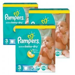 Pampers - Maxi giga pack 340 Couches Active Baby Dry taille 3 sur Le roi de la couche