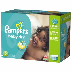 Pampers - Pack 46 Couches Baby Dry taille 5 sur Le roi de la couche