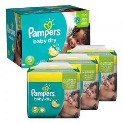 Pampers - Mega pack 161 Couches Baby Dry taille 5 sur Le roi de la couche