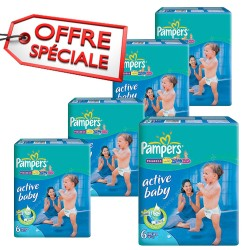 Pampers - Giga pack 240 Couches Active Baby Dry taille 6