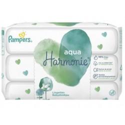 Pampers - Mega pack 192 Lingettes Bébés Aqua Harmonie sur Le roi de la couche