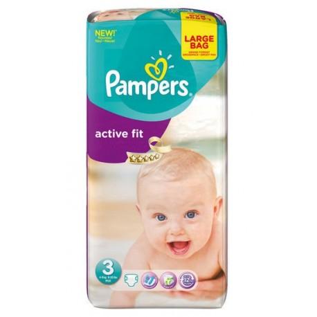Pampers - Pack 68 Couches Active Fit taille 3 sur Le roi de la couche