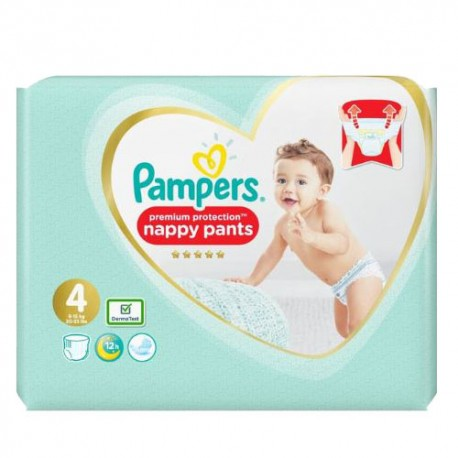 Pampers - Pack 76 Couches Premium Protection Pants taille 4 sur Le roi de la couche