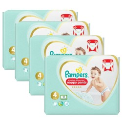 Pampers - Pack jumeaux 608 Couches Premium Protection Pants taille 4
