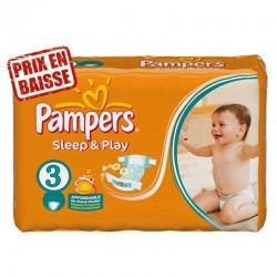Pampers - Pack 78 Couches Sleep & Play taille 3 sur Le roi de la couche