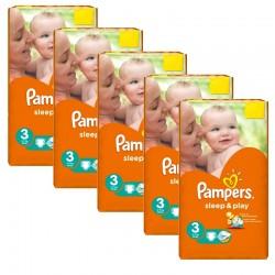 Pampers - Mega pack 156 Couches Sleep & Play taille 3 sur Le roi de la couche