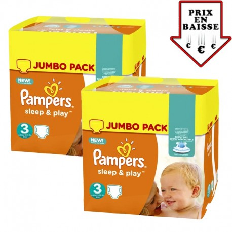 Pampers - Giga pack 234 Couches Sleep & Play taille 3 sur Le roi de la couche