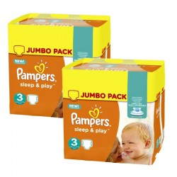 Pampers - Maxi giga pack 312 Couches Sleep & Play taille 3 sur Le roi de la couche