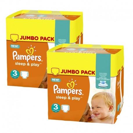 Pampers - Pack jumeaux 546 Couches Sleep & Play taille 3 sur Le roi de la couche