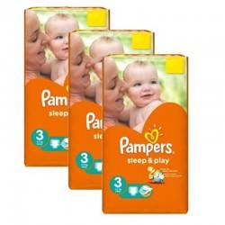 Pampers - Pack jumeaux 624 Couches Sleep & Play taille 3 sur Le roi de la couche