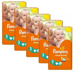 Pampers - Pack jumeaux 780 Couches Sleep & Play taille 3