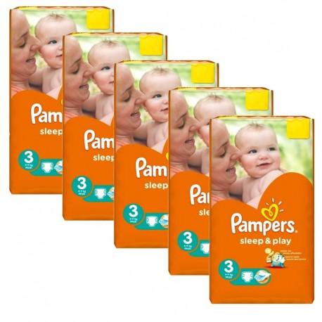 Pampers - Pack jumeaux 780 Couches Sleep & Play taille 3 sur Le roi de la couche